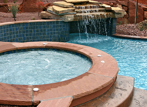 Pool With a Water Feature